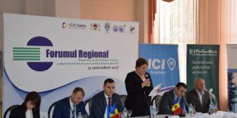 """Forumul regional """"Regiunea de Dezvoltare Centru – soluții inovative și oportunități pentru afaceri"""""""